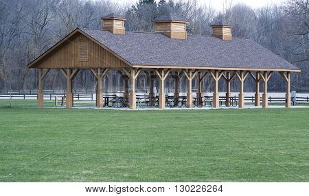 Shelter in Cleveland,Ohio Metro Parks for picnics and recreation