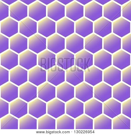 Simple geometric background. Abstract seamless pattern of hexagons. Suitable for printing fabrics textiles and web.