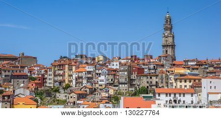 Panorama Of Porto Skyline With Rooftops And Church Tower