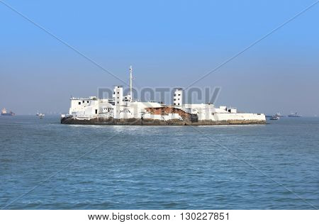 Small island in Arabian sea near Mumbai controlled by Indian navy cost guard
