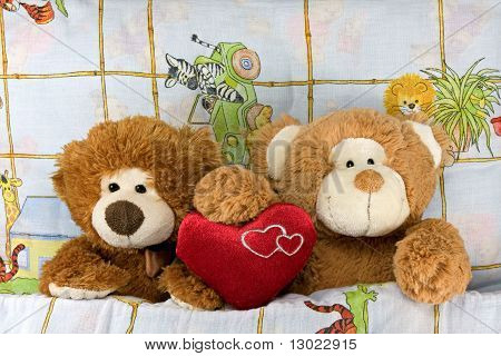 couple of passionate Teddy-bears