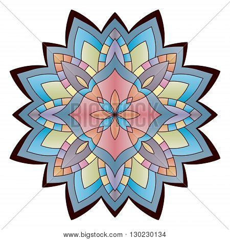 Bright abstract pattern, mandala. Vector design template for art.
