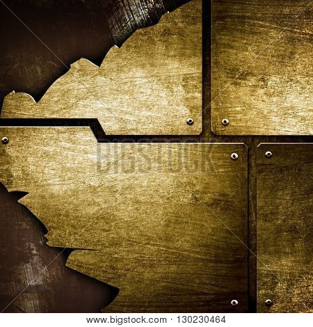 cracked metal design background