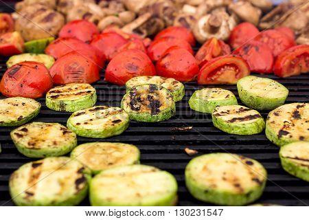 Vegetarian Food, Grilled Vegetables