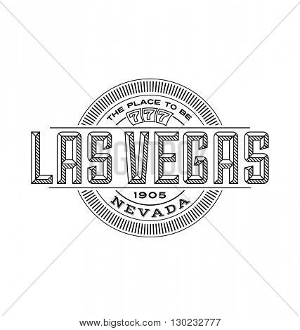 las vegas, nevada linear emblem design for t shirts and stickers