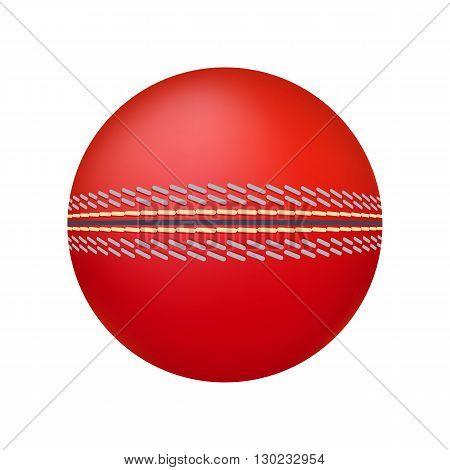 Cricket ball illustration. Cricket ball on white background. Cricket ball vector. Ball illustration. Cricket ball vector