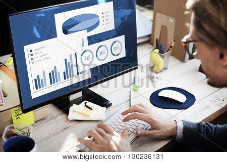 Business Chart Organisation Success Concept