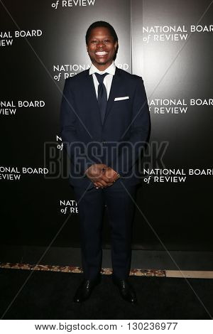 NEW YORK-JAN 5: Actor Jason Mitchell attends the 2015 National Board of Review Gala at Cipriani 42nd Street on January 5, 2016 in New York City.