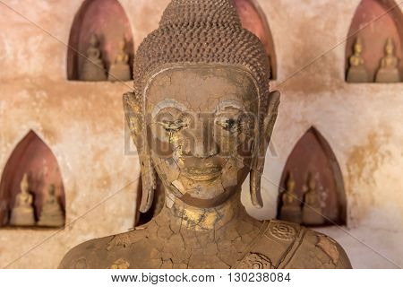 Ancient Buddha Art In Wat Sisaket, Vientiane, Laos