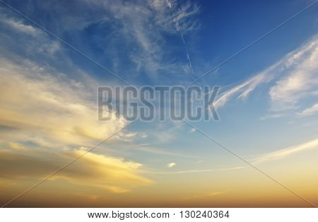 Beautiful sunset sky background. Element of design