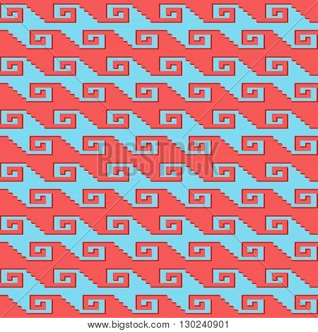 Seamless geometric pattern with. Can be used in textiles for book design website background.