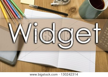 Widget - Business Concept With Text