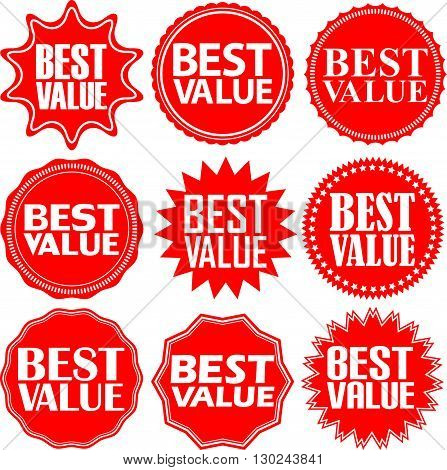 Best Value Red Label. Best Value Red Sign. Best Value Red Banner. Vector Illustration