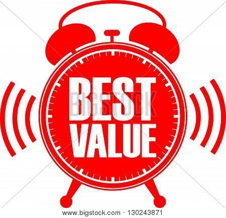 Best Value Red Alarm Clock, Vector Illustration