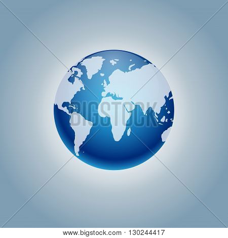 planet Earth icon. Flat planet Earth icon. Flat design illustration for web banner, web and mobile, infographics. Earth icon graphic. icon isolated on gradient background.