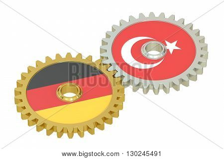 Germany and Turkey relations concept 3D rendering