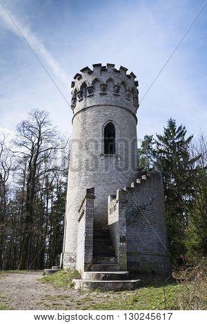 Lookout Ded Near Beroun Czech Republic With Blue Sky Background
