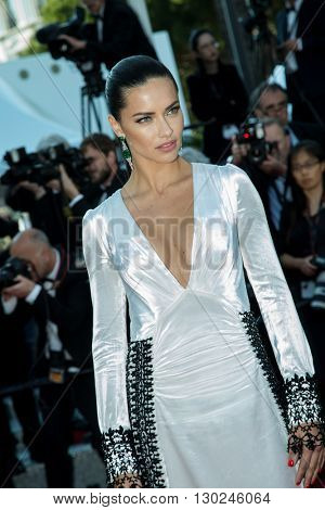 Adriana Lima  attends the 'Julieta' premiere at the 69th Festival de Cannes. May 17, 2016  Cannes, France