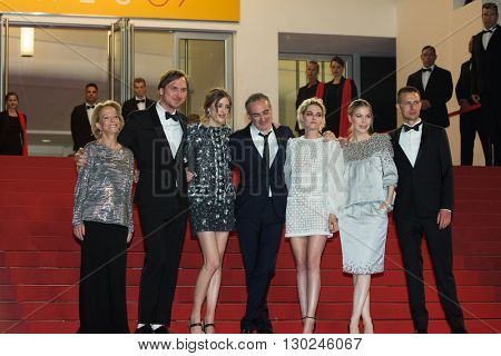Sigrid Bouaziz, Olivier Assayas,  Kristen Stewart, Nora von Waldstaetten, A. Danielsen Lie,  'Personal Shopper' premiere at the 69th Festival de Cannes. May 17, 2016  Cannes, France