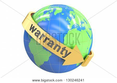 World Warranty 3D rendering isolated on white background