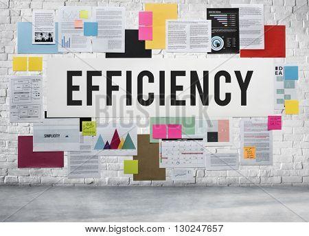 Efficiency Business Ability Excellence Improvement Concept