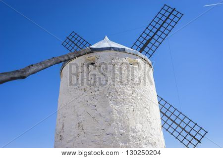 cereal mills in Castilian landscape with very old architecture