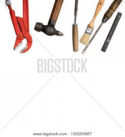 set of instruments on a white background