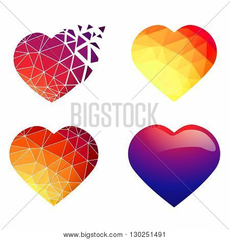Illustration of Different Heart Design Collection Over White