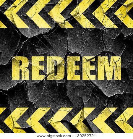 redeem, black and yellow rough hazard stripes