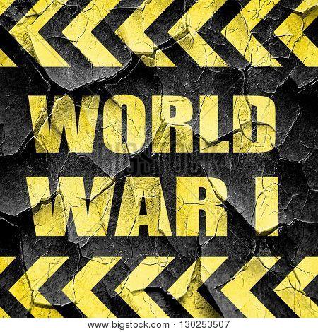 World war 1 background, black and yellow rough hazard stripes