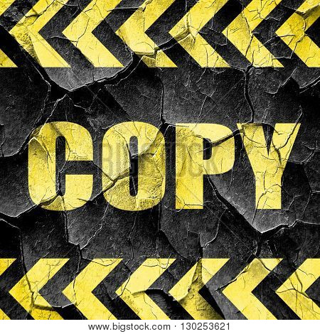 copy sign background, black and yellow rough hazard stripes