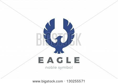 Eagle bird Logo abstract vector. Flying Falcon Hawk Phoenix
