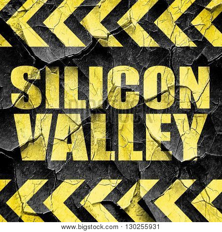 silicon valley, black and yellow rough hazard stripes