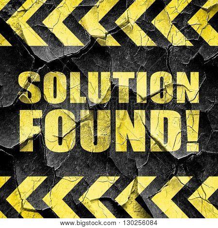 solution found!, black and yellow rough hazard stripes
