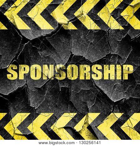 sponsorship, black and yellow rough hazard stripes
