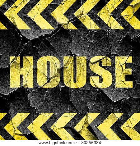 house music, black and yellow rough hazard stripes