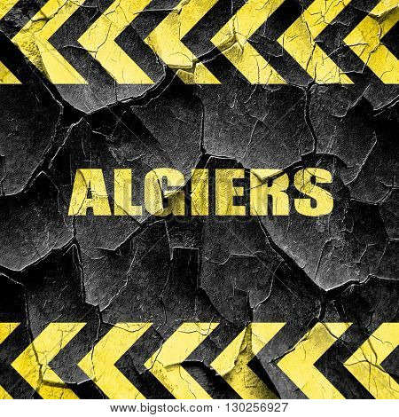 algiers, black and yellow rough hazard stripes