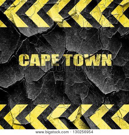 cape town, black and yellow rough hazard stripes