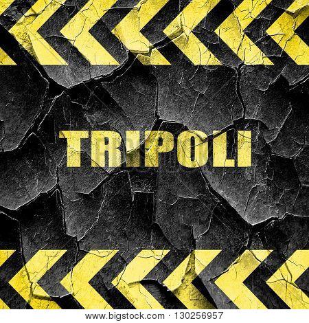 tripoli, black and yellow rough hazard stripes