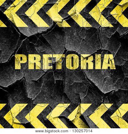 pretoria, black and yellow rough hazard stripes