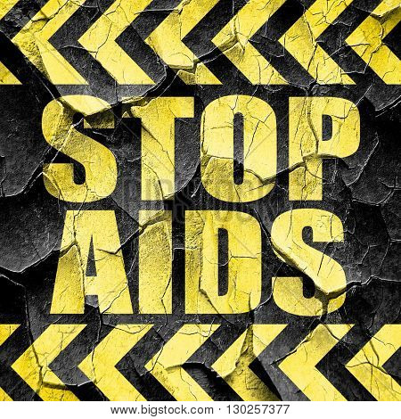 stop aids, black and yellow rough hazard stripes