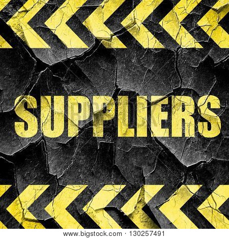 suppliers, black and yellow rough hazard stripes