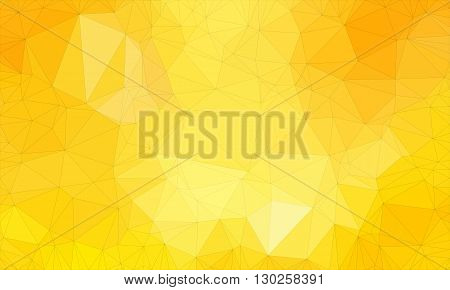 Low poly background design in geometric pattern. polygon wallpaper in origami style. polygonal texture illustration in color light yellow and dark yellow and orange