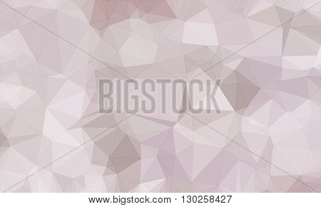 Low poly background design in geometric pattern. polygon wallpaper in origami style. polygonal texture illustration in color light gray and light brown