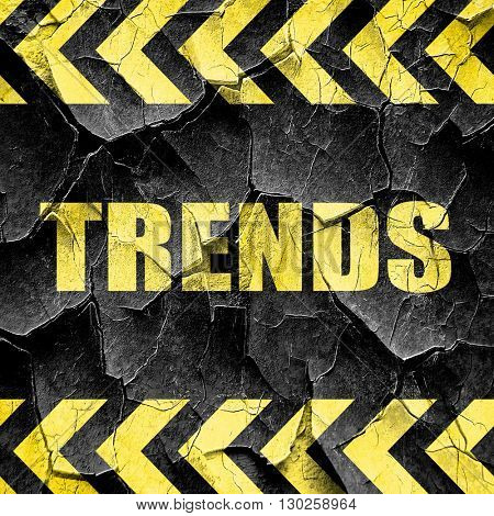 trends, black and yellow rough hazard stripes