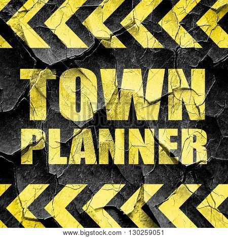 townplanner, black and yellow rough hazard stripes