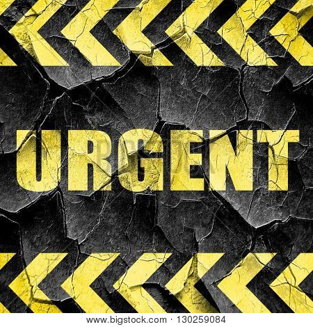 urgent, black and yellow rough hazard stripes