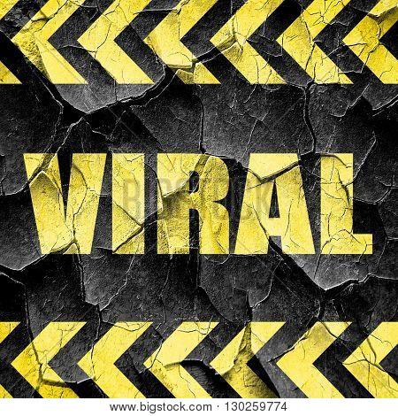 viral, black and yellow rough hazard stripes