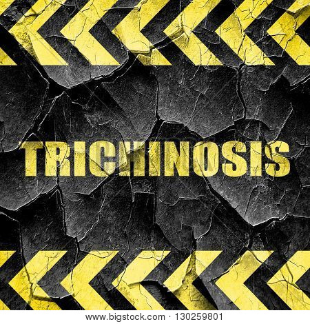 trichinosis, black and yellow rough hazard stripes