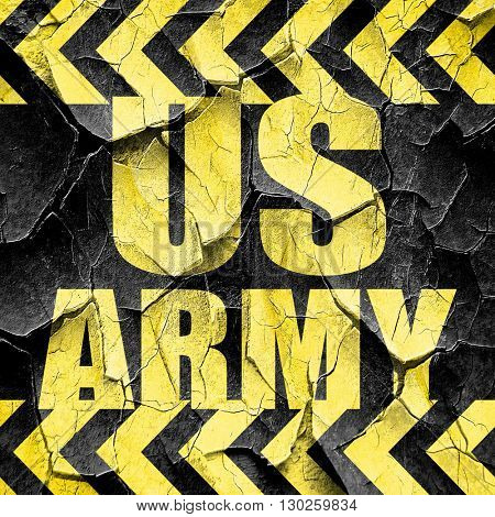 us army, black and yellow rough hazard stripes